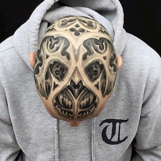 tatuaje blanco y negro en 3D