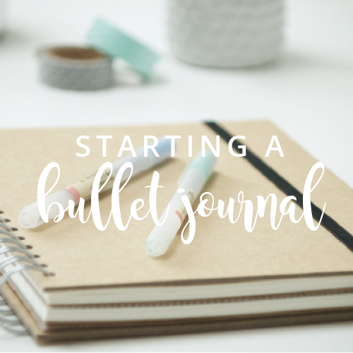 Starting a bullet journal