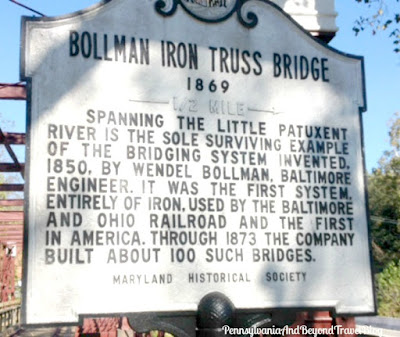 Historic Bollman Truss Railroad Bridge in Savage Maryland