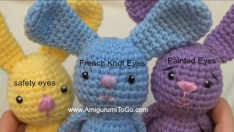 Eyes For Amigurumi : Little bigfoot bunny 2014 with video tutorial ~ amigurumi to go