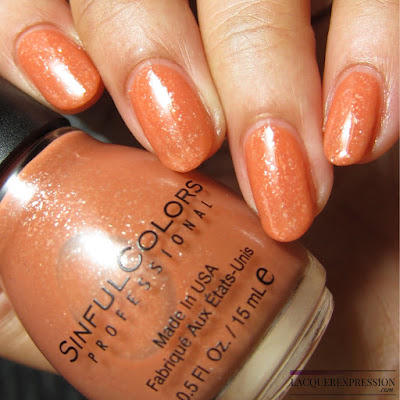 nail polish swatch of Clay Me by Sinful Colors sinfulcolors