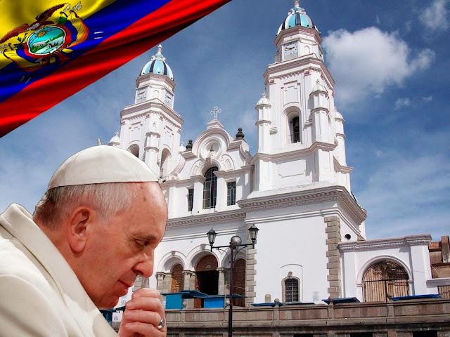 llegada del papa francisco el quinche