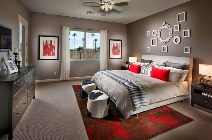 habitaciones en rojo y gris dormitorios colores y estilos