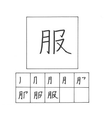 kanji pakaian
