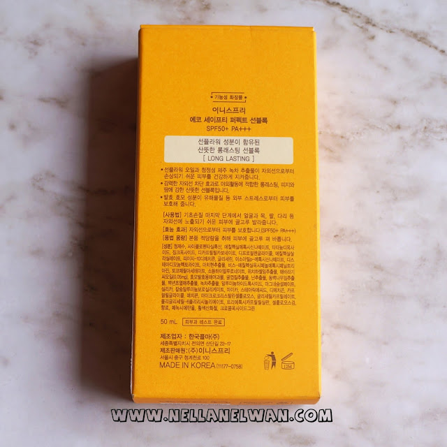 innisfree eco safety perfect sunblock spf 50 long lasting review nellanelwan