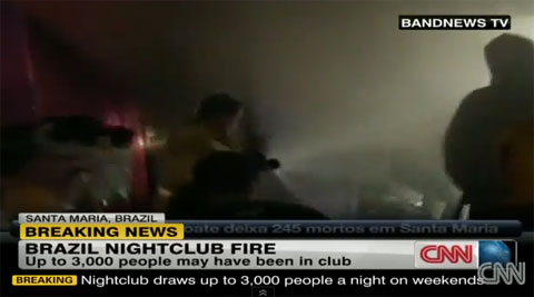 230 die in Brazil nightclub fire as lone exit blocked with victims overcome by smoke