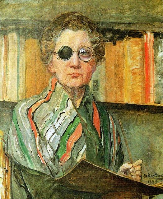 Jo Koster, Self Portrait, Portraits of Painters, Fine arts, Portraits of painters blog, Paintings of Jo Koster, Painter Jo Koster