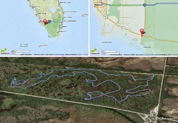 Airboat tour Everglades Strecke und Wo