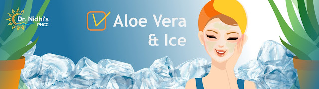 Aloe vera and ice fights acne