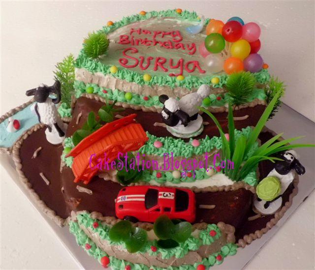 Cake Station Shaun The Sheep Birthday Cake Untuk Surya
