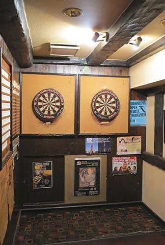 Dart boards, Pig & Whistle Kyoto.