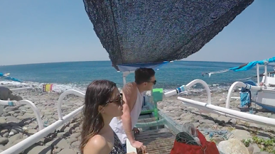 Day Trip Spearfishing In north Bali with young couple Alyssa Haeberle Turner and Ben Percival