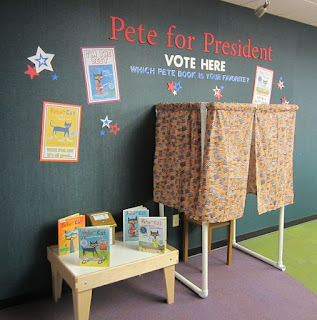 Pete for President voting area