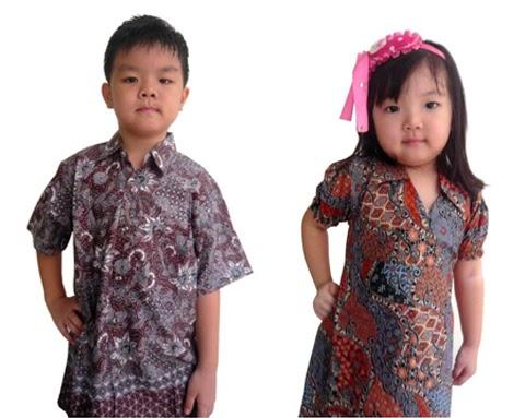 model baju batik anak anak