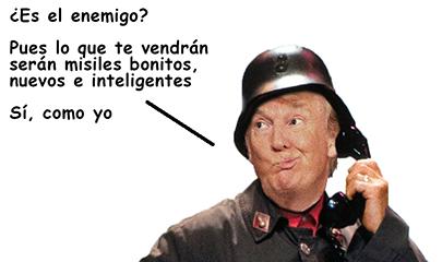 el villano arrinconado, humor, chistes, reir, satira, Miguel Gila, Trump