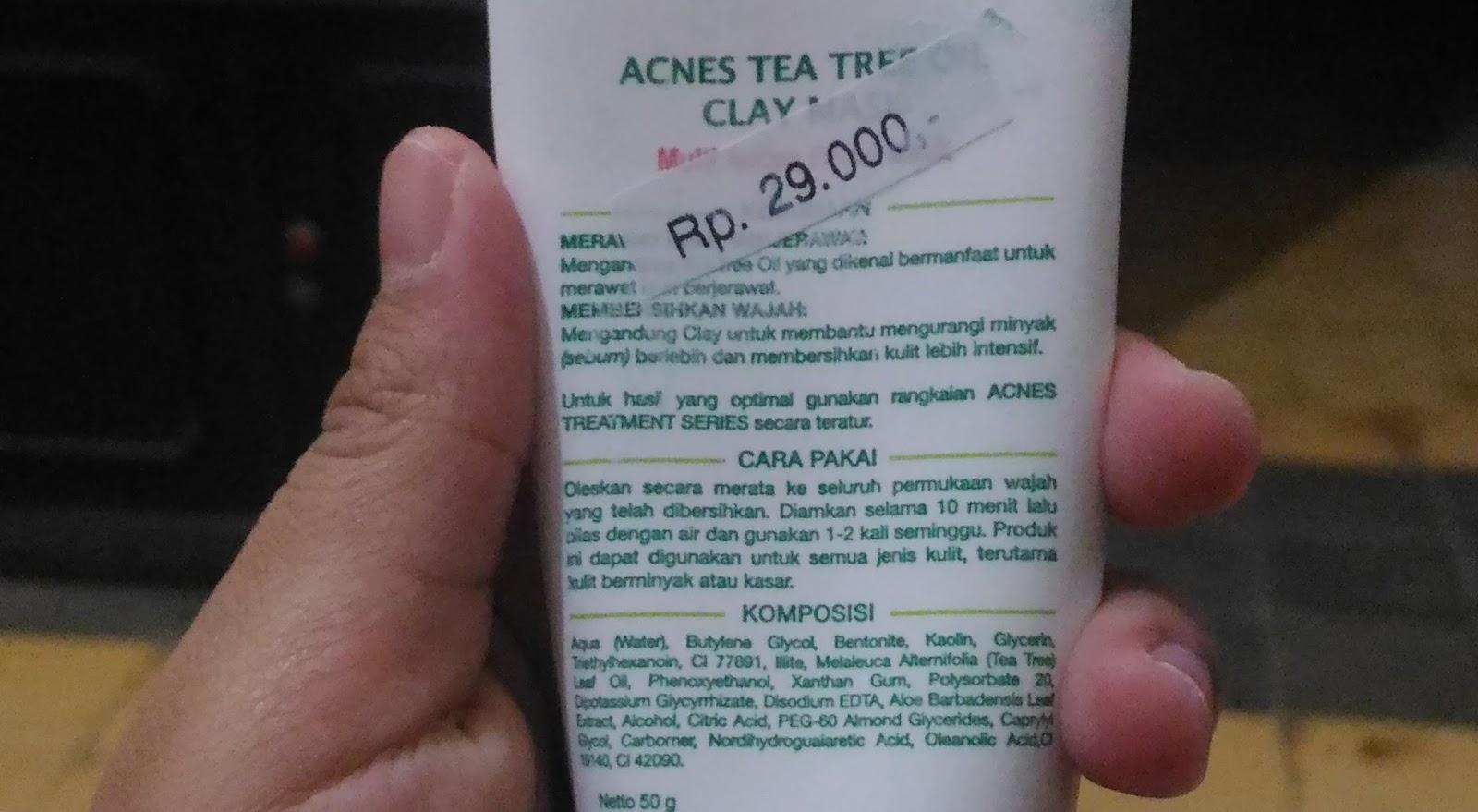 Review Acnes Tea Tree Oil Clay Mask 50g Sayangnya Sih Produk Ini Masih Ada Kandungan Alkoholnya Meskipun Nggak Sering Saya Pake Alkohol Kan Kurang Ramah Untuk Pemilik Kulit