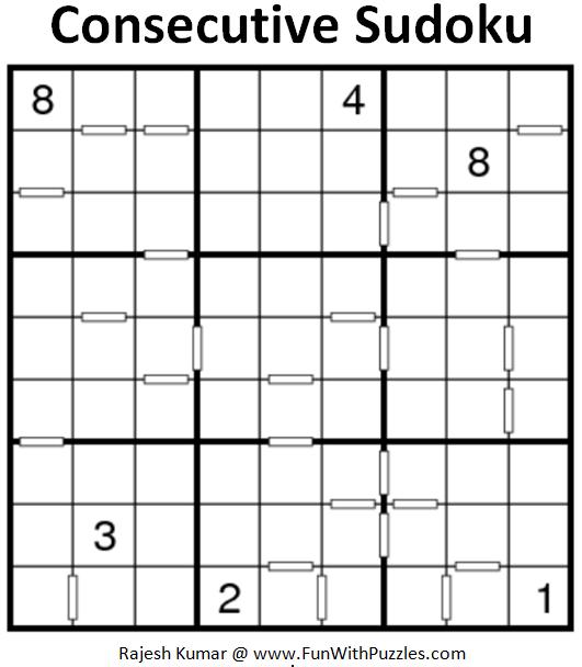 Consecutive Sudoku (Fun With Sudoku #202)