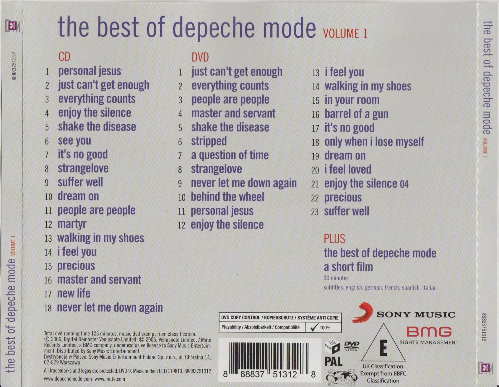 Depeche Mode The Best Of Depeche Mode Volume 1 Cd Dvd
