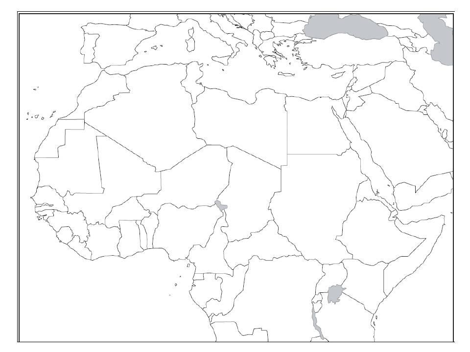 Carte De L Afrique Du Nord Vierge