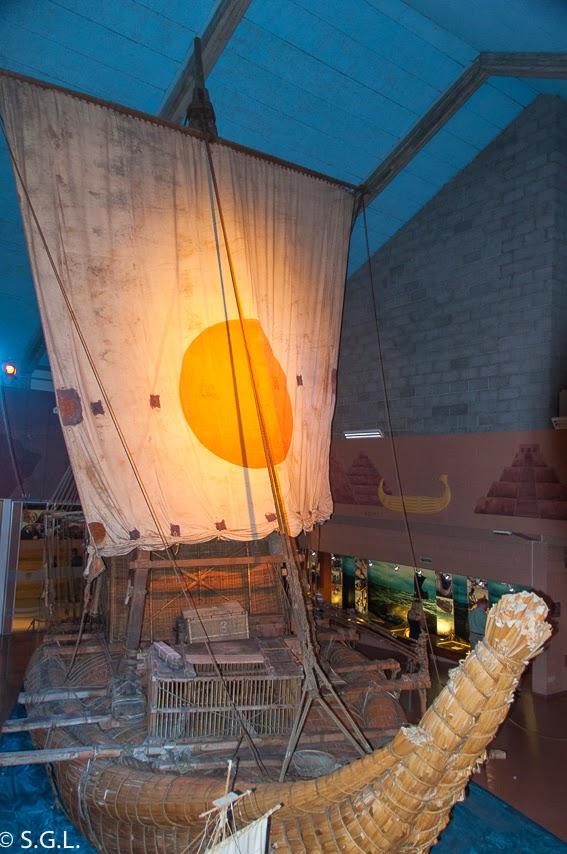 Barca de la expedicion Ra