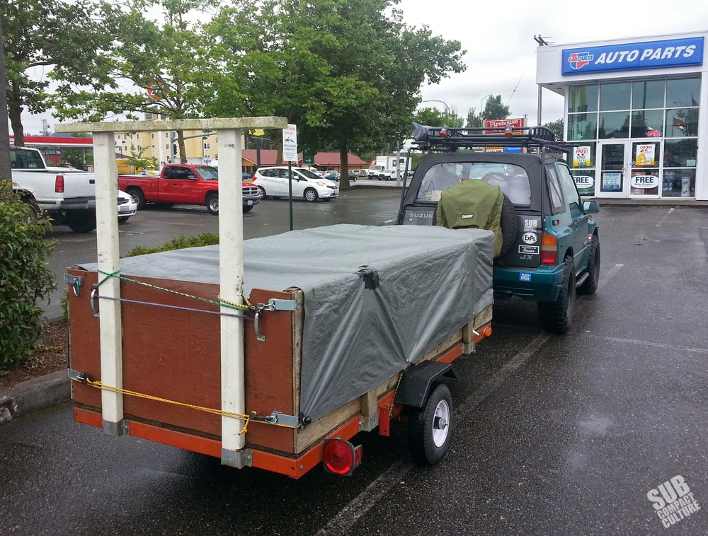 Towing a small trailer with a Suzuki Sidekick