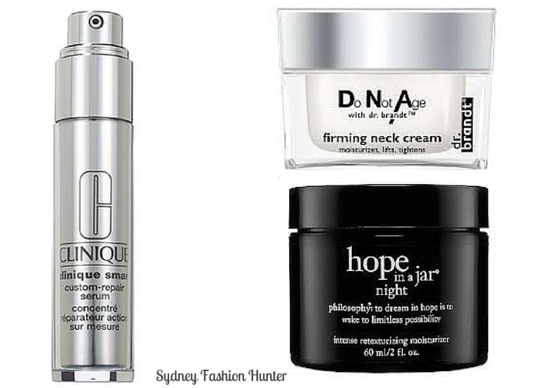 Clinique Smart Custom Repair Serum, Philosophy Hope In A Jar Night, Dr BRandt DNA Neck Cream