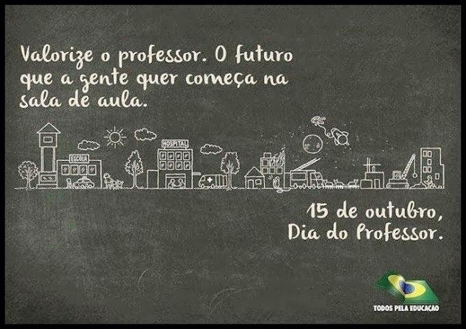 Mensagens de Feliz Dia do Professor.