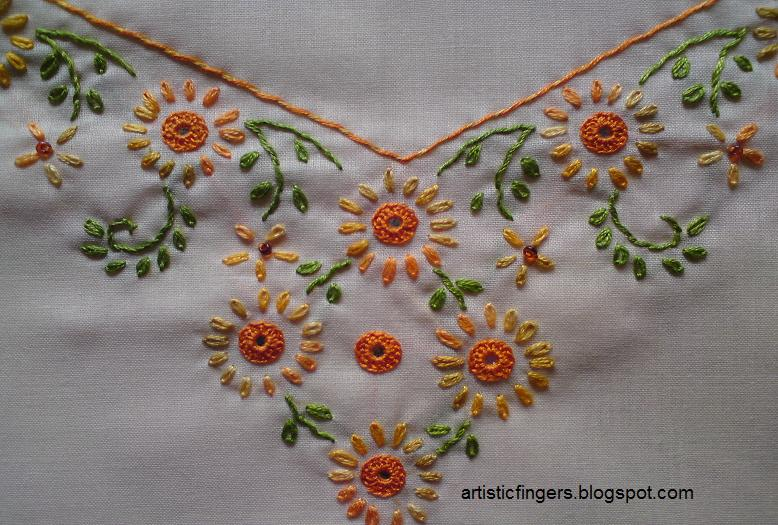 Artisticfingers shisha mirror embroidery
