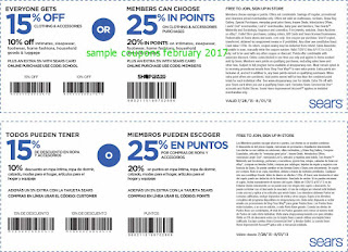 Sears coupons february 2017