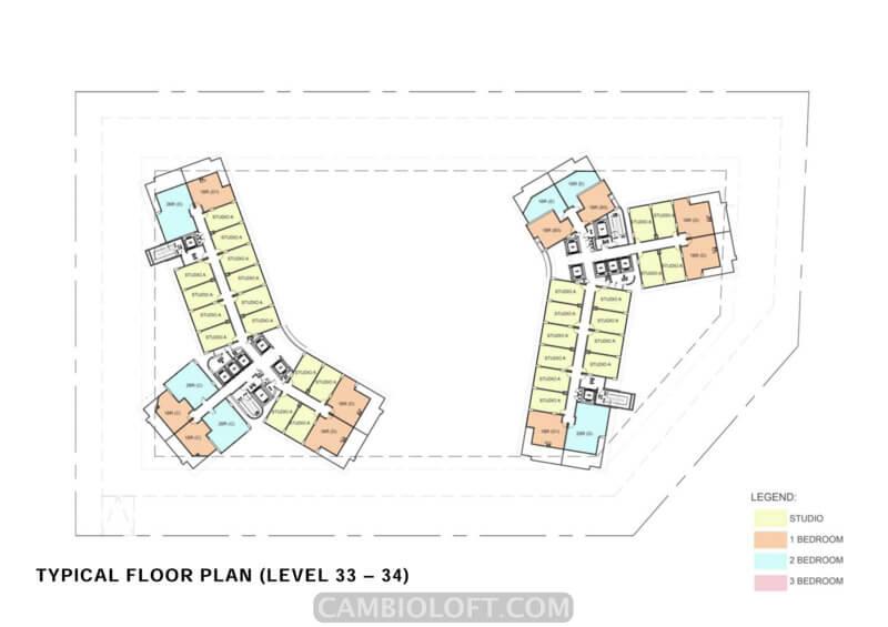 Floor Plan Lt 31-34 Cambio Lofts Alam Sutera