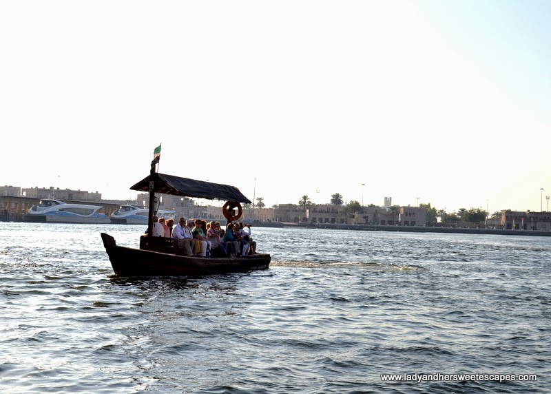 abra ride in Dubai Creek