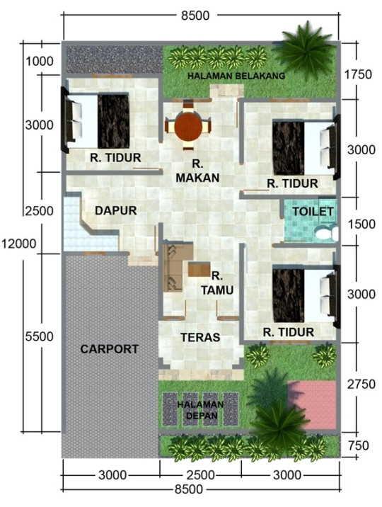 rumah 3 kamar murah