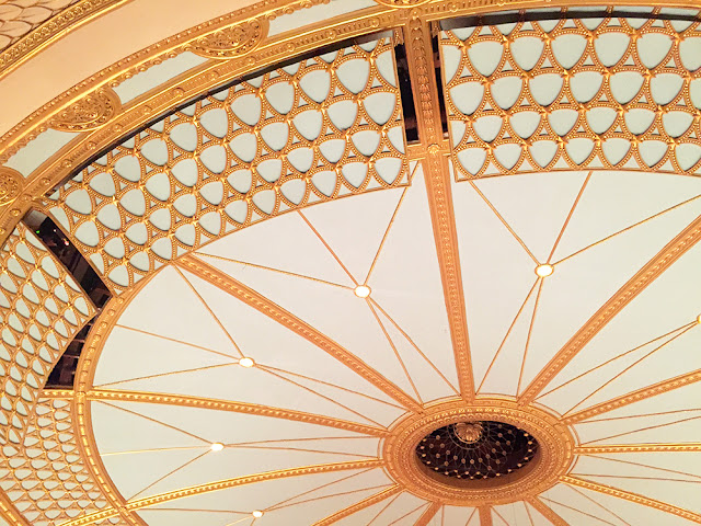 Gold ceiling at the Royal Opera House, Covent Garden