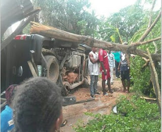 Accident scene in Akwa Ibom