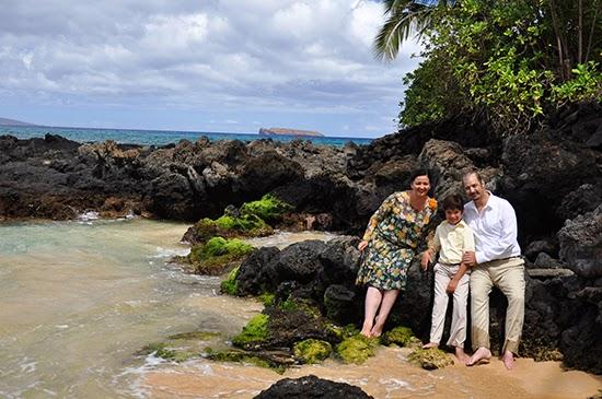Maui beach 1920s dress family portrait