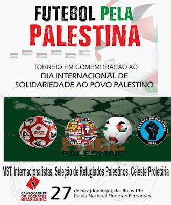 Futebol em solidareidade a Palestina