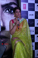 Bollywood Actress Raveena Tandon in Transparent Green Saree at Trailer Launch Of Film Maatr  0025.JPG