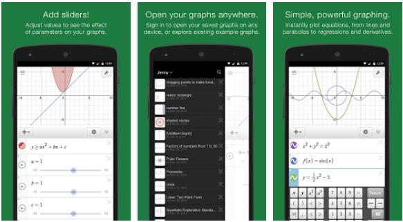 تطبيق Desmos Graphing Calculator لحل المسائل الرياضية و المعادلات و الرسم البياني