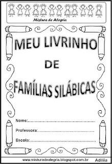 Livro famílias silábicas capa