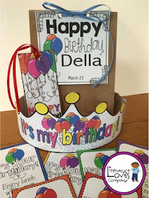 Birthday Display and Gift Pack is a great way to work smarter not harder in the classroom this school year!