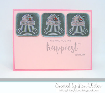 Chalkboard Cupcake card-designed by Lori Tecler/Inking Aloud-stamps from Avery Elle