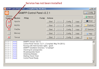 Check module that is already installed on XAMPP Control Panel