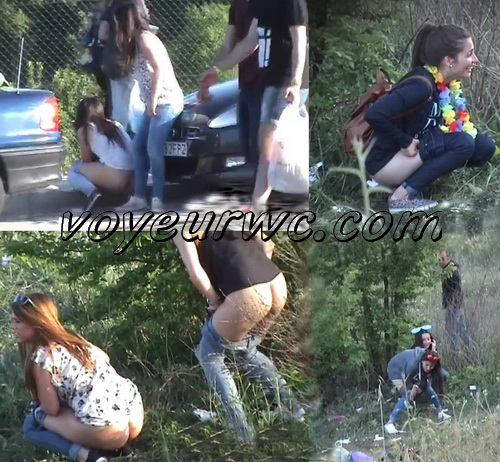 Girls Gotta Go 01-55 (Spanish Outdoor Voyeur Pissing)