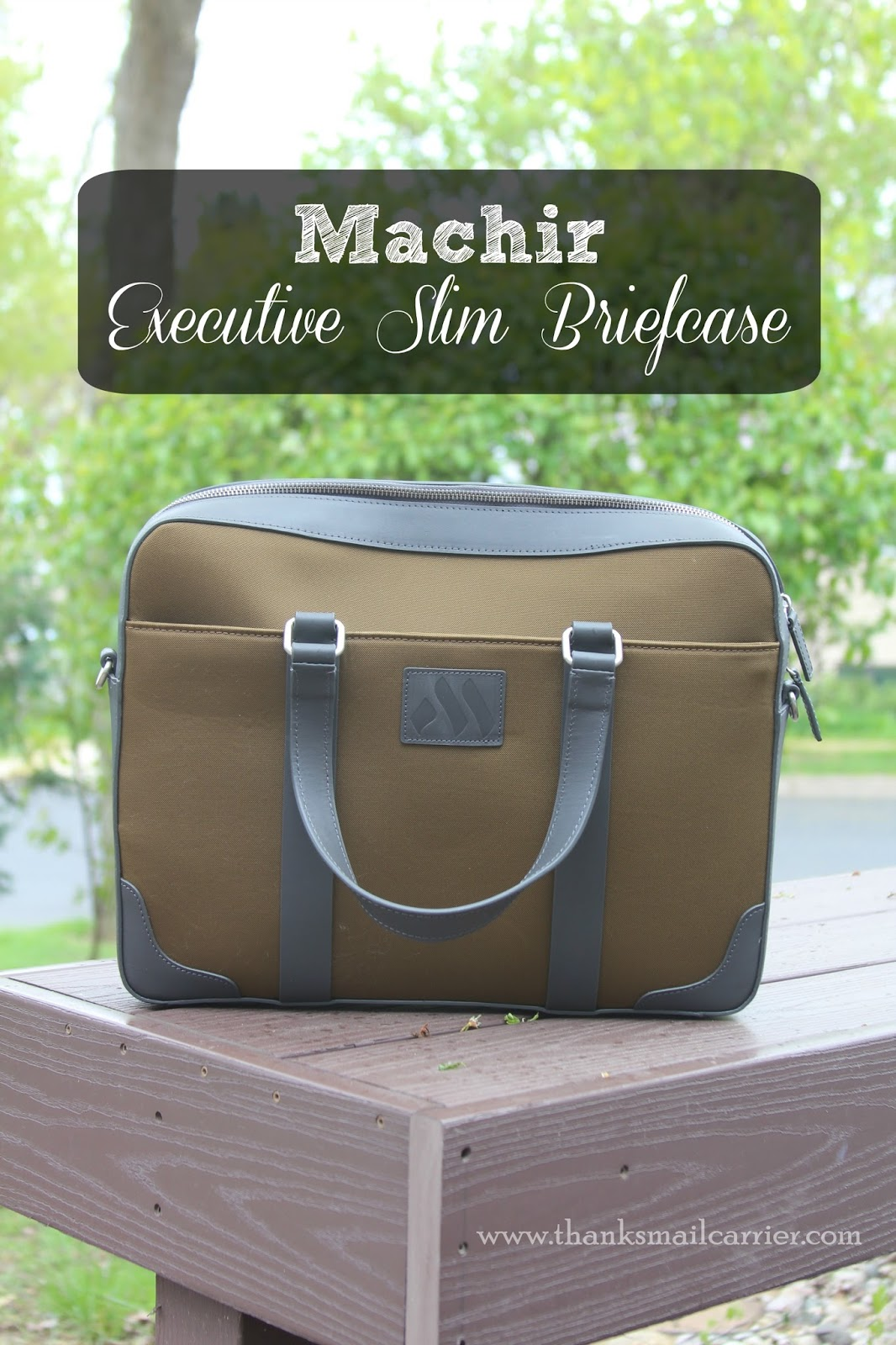 Machir Executive Slim Briefcase