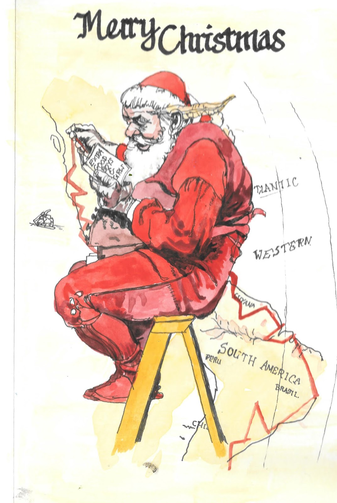 South Wales Urban Sketcher: One Sketch 230) Norman Rockwell ...