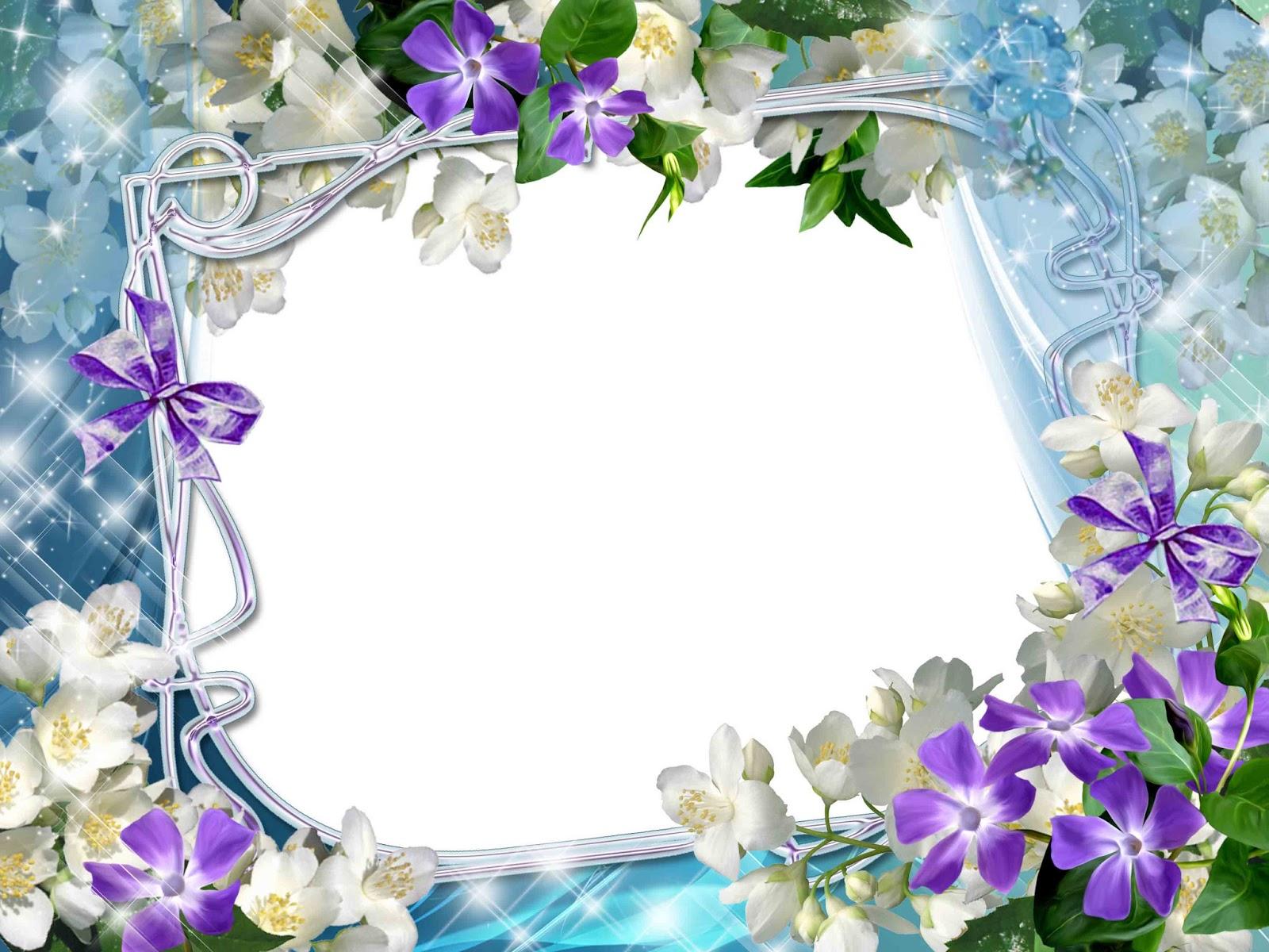 flowers frame png frame Spring Flowers Clip Art Spring Clip Art Coloring
