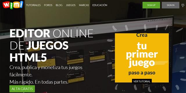 Wimi, plataforma que promete facilitar a construção de jogos em HTML 5