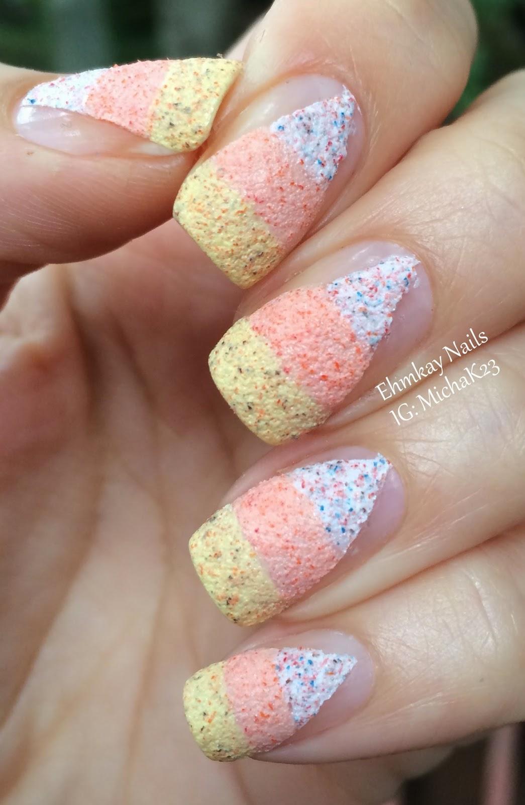 ehmkay nails: Textured Candy Corn Halloween Nail Art with ...
