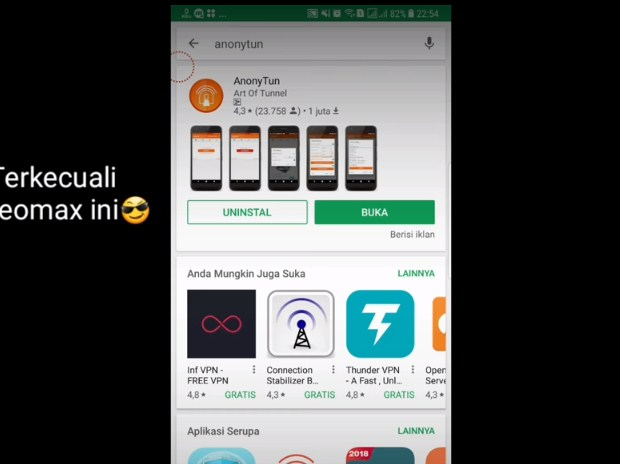 Setting Anonytun Kuota Midnight Telkomsel Agar 24 Jam 2019: LANGKAH PERTAMA 2