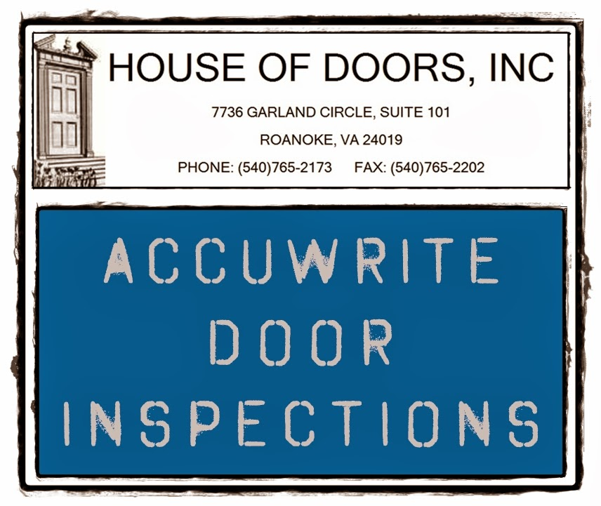 House of Doors - Roanoke, VA Accuwrite Fire Door Inspections